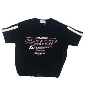 【RICO SUCRE】袖ラインビッグTシャツ(ブラック)  RCTS202972|mystylist