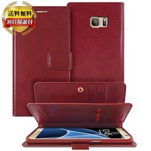 Galaxy S7 edge 手帳型 ケース プレミアムPUレザー docomo SC-02H au SCV33 ギャラクシーS7 エッジ SIMフリー Goospery Mansoor【送料無料】ポイント還元|mywaysmart