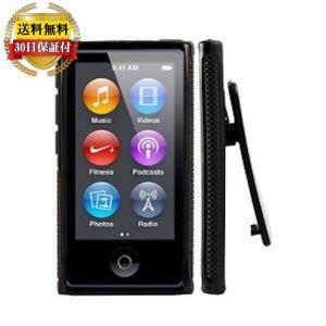 iPod nano 7 ケース カバー 第7世代 TPU ベルトクリップ付 iPodnano フィルム 保護フィルム 黒 2点セット/ sale 対象|mywaysmart