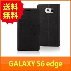 Galaxy S6 edge 手帳型 PUレザー ダイアリーケース by Mercury  docomo SC-04G  au SCV31  Softbank  Samsung ギャラクシーエス6 エッジ SIMフリー 対応  G|mywaysmart