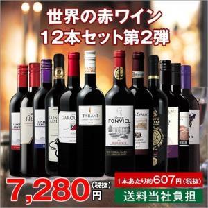 ワイン 世界の赤ワイン飲み比べ12本セット 第2弾  (送料無料) wine set ワインセット フランス イタリア スペイン オーストラリア チリ