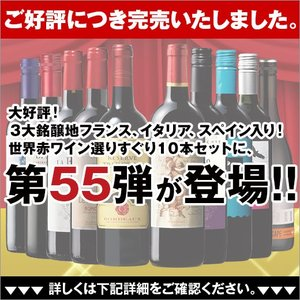 3大銘醸地フランス、イタリア、スペイン入り世界の赤ワイン選りすぐり10本セット