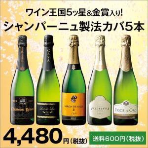 ワイン ダブル金賞&高評価ワイン入り!シャンパーニュ製法カバ5本セット 第6弾|mywine
