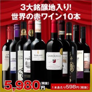 ワイン【実質送料無料クーポン配布中】3大銘醸地フランス、イタリア、スペイン入り世界の赤ワイン選りすぐり10本セット第77弾 wine set ワインセット