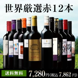 ワイン 世界の赤ワイン飲み比べ12本セット 第6弾  (送料無料) wine set ワインセット フランス イタリア スペイン オーストラリア チリ