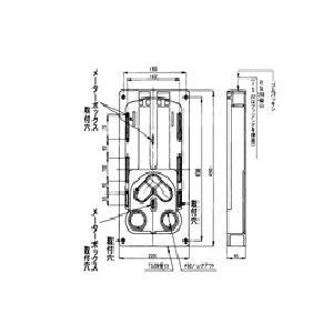 ◆耐候性樹脂 ◆適合メーターボックス L型 ◆寸法:タテ490 ヨコ220 フカサ 45 ◆バンド通...