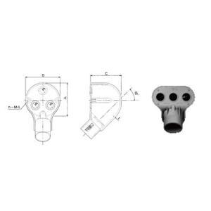 ◆塩ビ電線管附属品(非鉛) ◆適用電線管VE28 ◆寸法:A78 B80 C72 E15