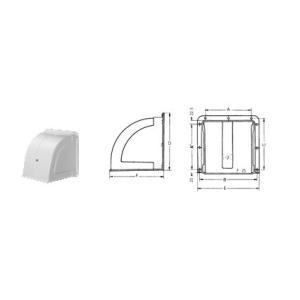 ◆適用換気扇20cm ◆寸法:AA`220 B286 C253 D(縦)285 E(横)306 F(...