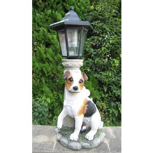 【ガーデニング】 DOG ソーラー A 【ソーラーライトの置物】|n-garden