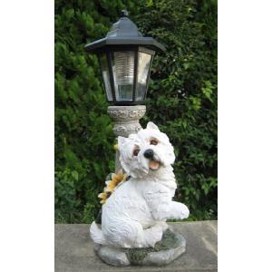 【ガーデニング】 DOG ソーラー B 【ソーラーライトの置物】|n-garden