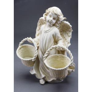 【ガーデニング】 エンジェルポット Wポット 【天使の置物】|n-garden