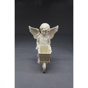【ガーデニング】 エンジェルカーゴ 【天使の置物】|n-garden