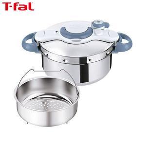 T-fal(ティファール) 圧力鍋 4.5L IH対応 2~4人用 ワンタッチ開閉 クリプソ ミニット イージー サックスブルー P4620670|n-kitchen