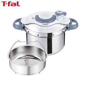 T-fal(ティファール) 圧力鍋 6L IH対応 4~6人用 ワンタッチ開閉 クリプソ ミニット イージー サックスブルー P4620770|n-kitchen