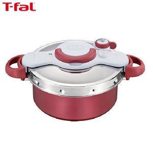 T-fal(ティファール) 圧力鍋 5.2L IH対応 4~5人用 ワンタッチ開閉 2in1 クリプソ ミニット デュオ レッド P4605136|n-kitchen