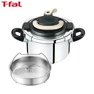 T-fal(ティファール) ワンタッチ開閉圧力鍋 クリプソ アーチ 4L アイボリー P4360431|n-kitchen