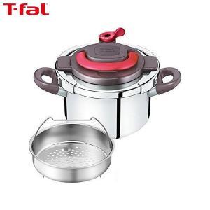 T-fal (ティファール) 圧力鍋 4L ワンタッチ開閉 クリプソ アーチ パプリカレッド IH対応 2~4人用 P4360432|n-kitchen
