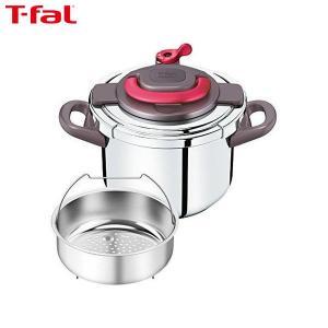T-fal (ティファール) 圧力鍋 6L ワンタッチ開閉 IH対応 4~6人用 クリプソ アーチ パプリカレッド P4360732|n-kitchen