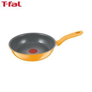 T-fal(ティファール) IHセラミックコントロール フライパン 21cm イエロー C97502|n-kitchen