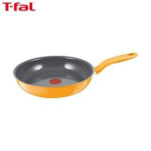 T-fal(ティファール) IHセラミックコントロール フライパン 26cm イエロー C97505|n-kitchen