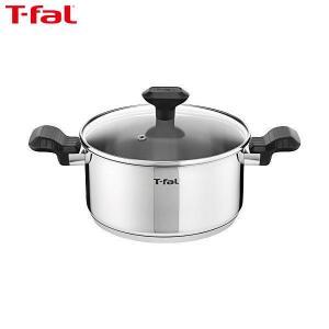 T-fal(ティファール) 両手鍋 20cm IH対応 コンフォートマックス IH ステンレス シチューパン 取っ手つき C99544|n-kitchen