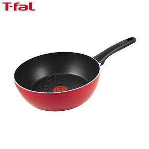T-fal(ティファール) 炒め鍋 26cm 極深 フライパン ガス火専用 フェアリーローズ ディープパン パワーグライド 4層コーティング 取っ手つき IH非対応 C50085|n-kitchen