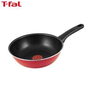 T-fal(ティファール) 炒め鍋 22cm 深型 フライパン ガス火専用 フェアリーローズ ウォックパン パワーグライド 4層コーティング 取っ手つき IH非対応 C50075|n-kitchen