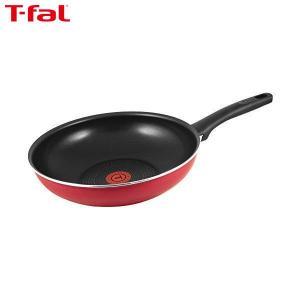 T-fal(ティファール) 炒め鍋 28cm 深型 フライパン ガス火専用 フェアリーローズ ウォックパン パワーグライド 4層コーティング 取っ手つき IH非対応 C50019|n-kitchen