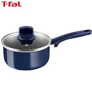 T-fal(ティファール) 片手鍋 18cm ガス火専用 グランブルー プレミア ソースパン チタン エクストラ 4層コーティング 取っ手つき IH非対応 D55123|n-kitchen