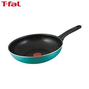 T-fal(ティファール) 炒め鍋 28cm 深型 フライパン ガス火専用 ラグーン ウォックパン パワーグライド 4層コーティング 取っ手つき IH非対応 C50119|n-kitchen