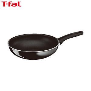 T-fal(ティファール) 炒め鍋 28cm 深型 フライパン ガス火専用 ハードチタニウム・プラス ウォックパン チタン 5層コーティング 取っ手つき IH非対応 D51519|n-kitchen
