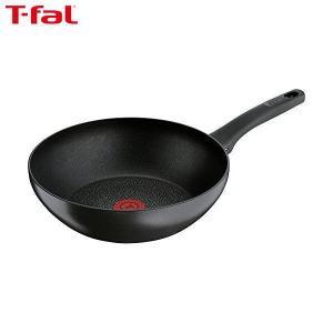 T-fal(ティファール) 炒め鍋 28cm 深型 フライパン IH対応 IHハードチタニウム・プラス ウォックパン チタン エクセレンス 6層コーティング 取っ手つき C63019|n-kitchen