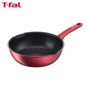 T-fal 深型フライパン IHルビー・エクセレンス マルチパン 22cm チタン IH対応 6層コーティング G13675 ティファール|n-kitchen