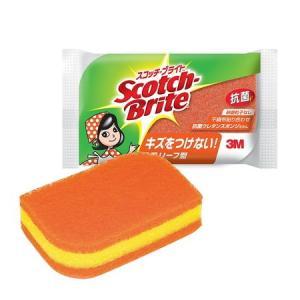 スコッチ・ブライトリーフ型抗菌ウレタンスポンジタワシ オレンジ SS-72KE|n-kitchen