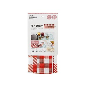 FOR_ 水切りマット 75×30 レッド FR-106|n-kitchen
