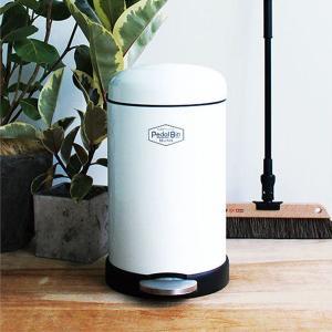 ペダル式ゴミ箱 サイレントクローズペダルビン 12L ホワイト SB-001 藤栄|n-kitchen