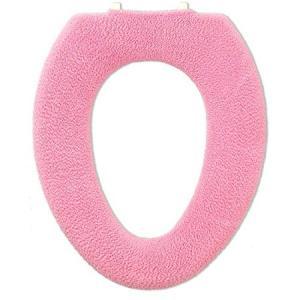 オカ やわらか便座 サンク O型便座カバー ピンク n-kitchen