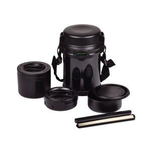 エコランチ Wステンレスランチジャー 1800 ブラック HB0254 パール金属|n-kitchen