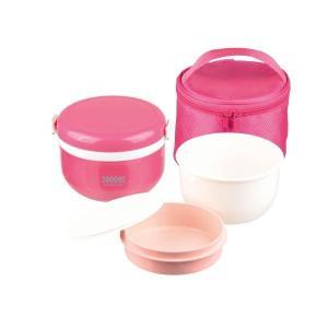 保温ランチ420 バック付 ピンク パール金属|n-kitchen