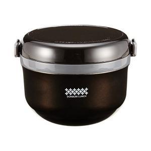 ほかどん 特盛ドンブリ保温ランチ 540 ブラック HB0264 パール金属|n-kitchen