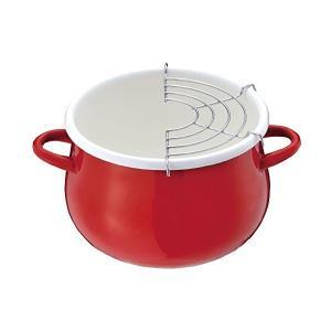 プチクック ホーロー 天ぷら 鍋 16cm レッド HB-1678 パール金属|n-kitchen