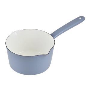 プチクック ホーロー ミルクパン 15cm ブルーグレー HB-2084 パール金属|n-kitchen