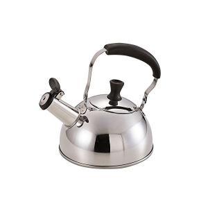 IH対応 コンパクトステンレス笛吹きケットル 1.0L HB2202 パール金属|n-kitchen