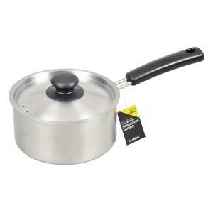 サティーナ 片手鍋 IH対応 目盛付 ステンレス製 16cm HB-3627 パール金属|n-kitchen
