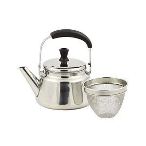 ジャストサイズ ケトル シルバー 1.2L IH対応 ステンレス製 広口 茶こし付 HB-4417 パール金属|n-kitchen