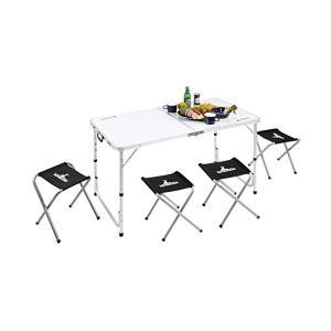 キャプテンスタッグ (CAPTAIN STAG) ラフォーレ テーブル・チェアセット 4人用 UC-4 n-kitchen