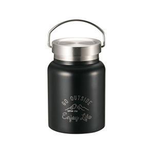 キャプテンスタッグ(CAPTAIN STAG) フードポット フードコンテナー 水筒 ダブルステンレスボトル 真空断熱 保温・保冷 400ml ブラック モンテ UE-3441 n-kitchen