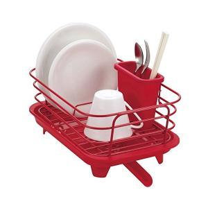 食器 水切り かご ミニ レッド Style+2 LC-724 パール金属|n-kitchen