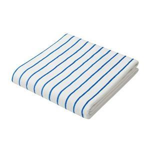 マイクロファイバー「カラリクオ」 バスタオル バスタオル ストライプ ホワイト×ブルー シービージャパン|n-kitchen