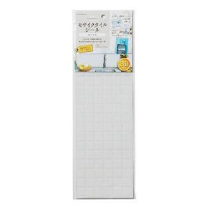 アール タイル シール モザイクタイルシール ホワイト MT-007|n-kitchen